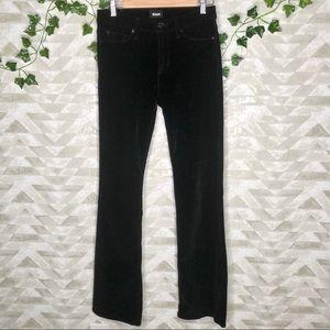 Hudson black velvet drew midrise bootcut jeans